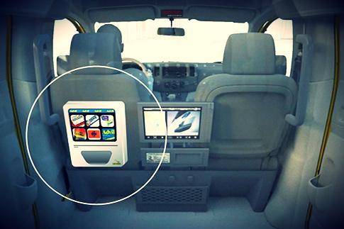 taxi cab credit card machine