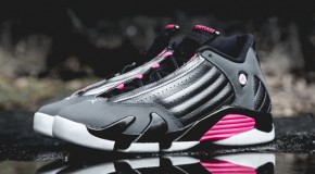 #SNEAKERHEADS: AIR JORDAN 14 RETRO – DARK GREY/BLACK/HYPER PINK (Photos)