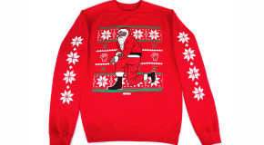 #DOPE: Nas Releases Kneeling Santa Sweaters Just in Time for Christmas
