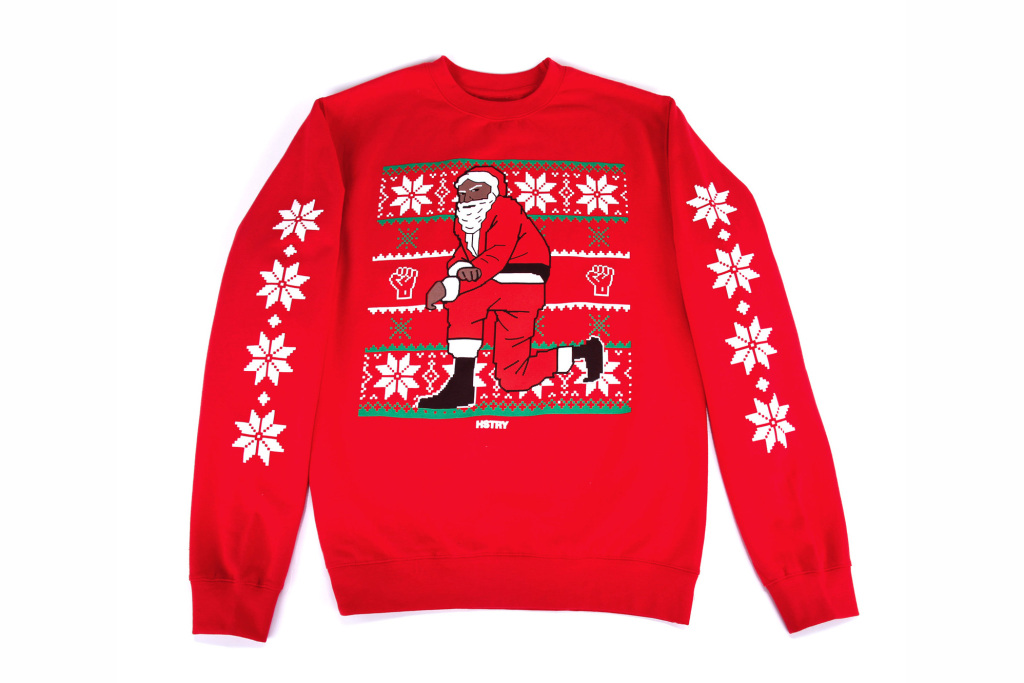 Official College Life #DOPE: Nas Releases Kneeling Santa Sweaters ...