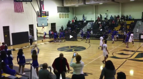VIDEO: High School Basketball Player Shatters Backboard with Fast-break Dunk