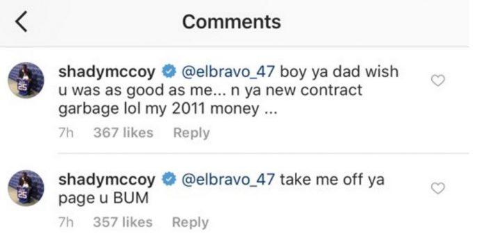 LeSean Mccoy Clap Back