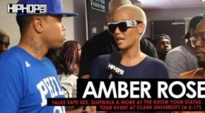 VIDEO: Amber Rose Talks Safe Sex, Slutwalk & More at the Know Your Status Tour Event at Clark University