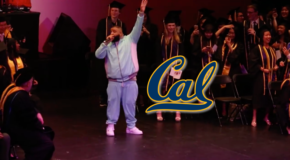 "DJ Khaled Crashes UC Berkeley Graduation Rocking a Baby-Blue Jumpsuit and Rapping ""All I Do Is Win"""