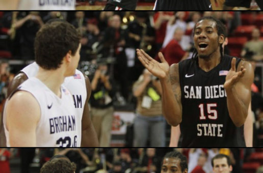 WHEN JIMMER FREDETTE & KAWHI LEONARD WERE COLLEGE RIVALS (VIDEO)