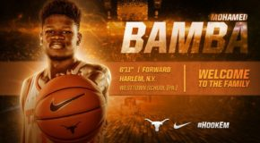 MOHAMED BAMBA SCORED 14 POINTS IN HIS IMPRESSIVE 15-MINUTE LONGHORN DEBUT